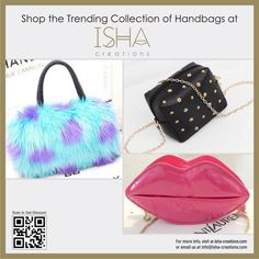 ISHA Creations is a community marketplace that empowers people to connect, both online and offline top selling products, brand new fashion & quality brand products. Fashion Bags, New Fashion, Luxury Bags, Leather Bag, Clutches, Hermes, Purse, Shoulder Bag