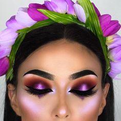 "17.3k Likes, 59 Comments - Lime Crime (@limecrimemakeup) on Instagram: ""As pretty as a tulip 'Lavender' from HI-LITE: Blossoms via @littledustmua."""