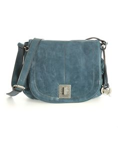 Another great find on #zulily! Petrol Blue Garret Leather Messenger Bag #zulilyfinds