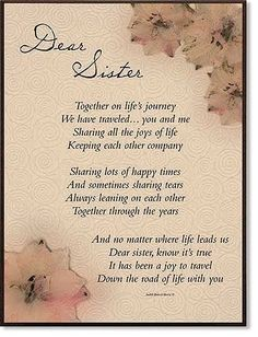 sister quotes and poems - Google Search