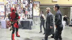 funny Deadpool cosplay | Deadpool vs MatrixCosplay Gif captured from of D Piddy's Deadpool vs ..