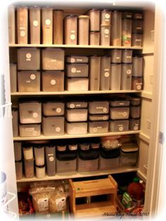 Organize w/Tupperware Modular Mates Pantry Laundry Room, Kitchen Organization Pantry, Home Organisation, Pantry Ideas, Organizing Ideas, Key Kitchen, Kitchen Pantry, Kitchen Ideas, Tupperware Organizing