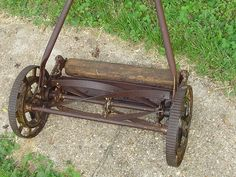 It was great fun if we could get it to move.............................Google Image Result for http://i.ebayimg.com/t/GREAT-STATES-rotary-REEL-push-lawn-MOWER-vintage-antique-Local-Pickup-/00/%24(KGrHqF,!g8E2ed8DPPNBNzUuvdKOw~~_3.JPG