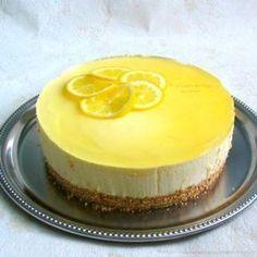 """recette de dessert, bavarois au citron et fromage blanc sur une base de biscuits """"Petit beurre"""" de Lu"""