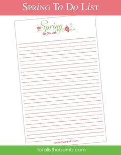 A Free Printable Spring To-Do List