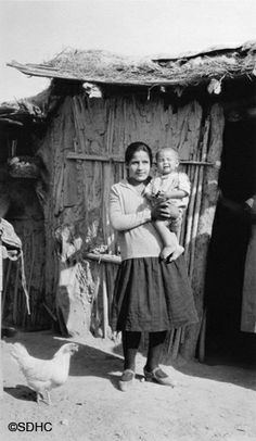 Yaqui mother with child