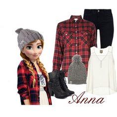 Outfit Ana, encuentra todos los estilos de los personajes de Disney en... http://www.1001consejos.com/outfits-al-estilo-disney/ #Disney #moda #1001consejos