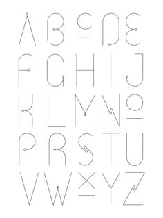 #alphabet #typography #graphic #design #typeface #font | love the simplicity.