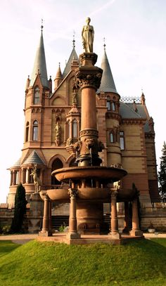 Germany: Schloss Drachenburg is a palace style private villa in built in the late C on the Drachenfels hill in Königswinter, on the Rhine near Bonn. Image 2 of Castle Ruins, Castle House, Medieval Castle, Beautiful Castles, Beautiful Buildings, Beautiful Places, Château Fort, Villa, Castle In The Sky