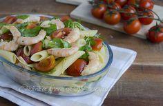 Pasta fredda con gamberi rucola e pomodorini