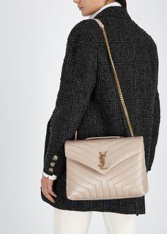 ee490b12d546 Loulou medium blush leather shoulder bag. Saint Laurent Loulou medium blush  leather shoulder bag - Harvey Nichols