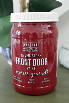 This paint is available at selected Lowe's and/or Ace Hardware. Made specifically for outside doors, including screen/storm doors.