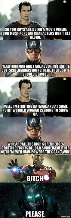 """Civil War"" and ""Batman v Superman"" thoughts. - 9GAG"