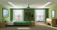 habitación de niño decorada de verde y azul - Buscar con Google