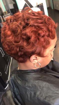 Short Copper Hair, Natural Hair Short Cuts, Tapered Natural Hair, Dyed Natural Hair, Short Hair Cuts, Natural Hair Styles, Pixie Cuts, Short Relaxed Hairstyles, Short Sassy Haircuts