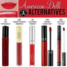 #AmericanDoll Alternatives 💋Please leave me your thoughts & requests in the…