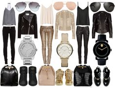 personal / look book ideas be a boss Leather Jacket Outfits, Leather Pants, Rocker Chic, Weekend Style, Fashion Beauty, Womens Fashion, Glam Rock, Autumn Winter Fashion, Dress To Impress