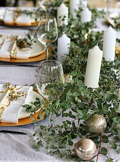 Australian inspired Christmas...eucalyptus and golden sunshine