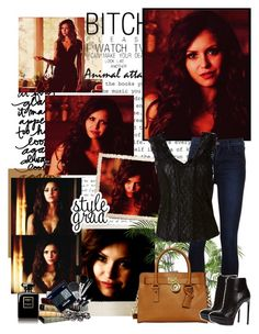 """""""Katherine Pierce"""" by mery90 ❤ liked on Polyvore featuring Polaroid, J Brand, MICHAEL Michael Kors, Yves Saint Laurent, Magdalena, women's clothing, women, female, woman and misses"""