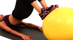 If you're looking to shape and tone your booty, there are many, many different yoga ball exercises out there that you can choose from