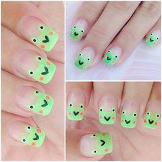 FROGS by 20nailstudio  #nail #nails #nailart