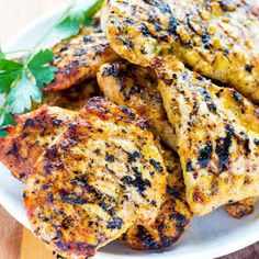 Simple and flavorful Grilled Lemon Rosemary Chicken is perfect for your low carb, Keto, and gluten free diet. Just a few ingredients to make this marinade. Grilled Rosemary Chicken, Grilled Chicken Recipes, Grilled Meat, Grilling Recipes, Beef Recipes, Cooking Recipes, Grilling Ideas, Healthy Recipes, Savoury Recipes