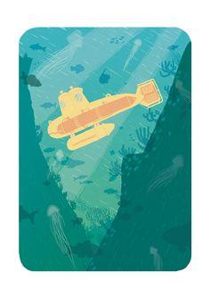 #illustration #jeoffrey #magellan #sousmarin #océan