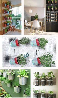 inspiração de hortas verticais
