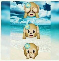 Monky emojiemoticono de mono