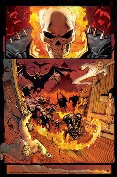 Ghost Rider by Mark Texeira Marvel Art, Marvel Dc Comics, Marvel Heroes, Comic Book Pages, Comic Books Art, Marvel Comic Character, Character Art, Dragon Rey, Spirit Of Vengeance