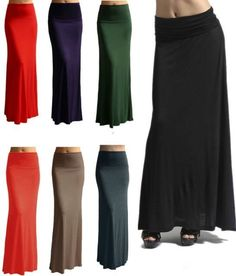 Maxi-Skirt - love all the bright colors!