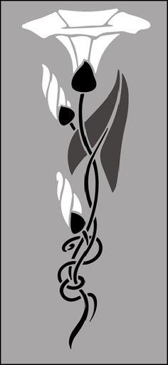 Stencils from our Art Nouveau stencil range