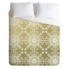 Lisa Argyropoulos Elegance White Whispers Duvet Cover | DENY Designs Home Accessories
