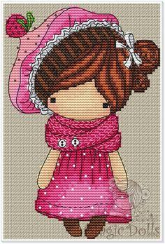 Jen Gorjuss Inspired Cross Stich Doll