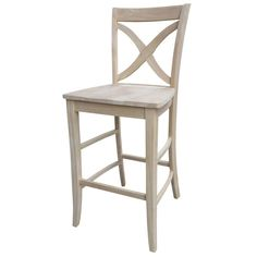 Unfinished Wood Bar Stool Stools Dining