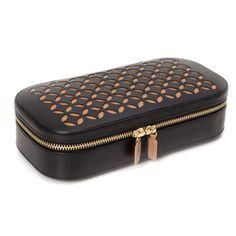 Wolf Chloe Leather Zip Jewelry Case