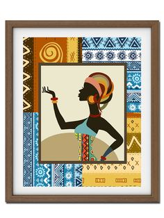 Afrocentric WomanAfrican Woman Painting African Art por iQstudio, $15.00