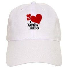 I Love Baba Cap on CafePress.com