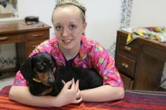 Hi,  my name is Hope.   I am a  5 yr. old female dachshund and I have lived my life in a puppy mill in Kansas.  I was used for continual breeding  until my last litter of puppies, I had to have a c-section, so they didn't want me any more. My rescuer bought me off of a dog auction. I was not in very good shape and my rescuer took me to the vet.  Click my picture to get to the web site to read more.