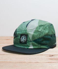 Diamond-Simplicity 5 Panel Hat Green
