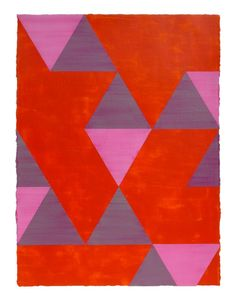 """Painting by Amy van Helden """"Lygia Clark Series VII"""" 2014 - Acrylic on Arches paper - 22 x Triangle Drawing, Paintings For Sale, Original Paintings, Brazil Art, Arches Paper, Triangle Design, Complimentary Colors, Artist Painting, Quilting Projects"""