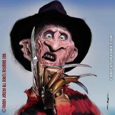Caricatura Freddy Krueger - Frederick Charles Krueger, o simplemente Fred o Freddy Krueger, es el personaje principal de la saga de películas de terror