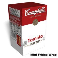 Campbells Tomato soup mini fridge wrap