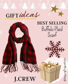 Wool scarf in holiday plaid curated on LTK