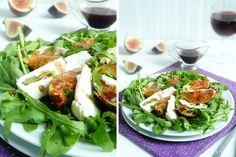 Салат с жареным в меду инжиром -   Salad with grilled figs in honey  Встречайте. Салат с рукколой, жареным в меду инжиром, овечьим сыром. Очень вкусный. Просто бомба! Пряная руккола, тающий во рту сладкий инжир, чуть кремовый сыр с ноткой овечьего молока, бальзамик и мед в заправ�