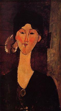 """Beatrice Hastings davanti a una porta"", 1915."