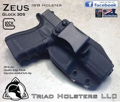 Glock 30S Kydex Holster - Triad Holsters LLC - Kydex Holsters Inside The  Waistband Holster f90a83fd6c85f