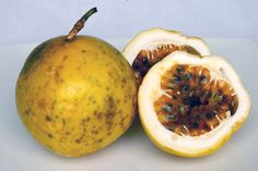Maracuya Taxonomic Name: Passiflora edulis Common Names: Yellow Passion Fruit (English), Maracuya (Colombia) Country of Origin: Brazil Description: The most common of the several varieties of passiflora available in Colombia, it is slightly less tart but just as fragrant as a standard passionfruit (gulupa).