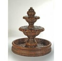 A medium-sized piece with a round pool basin, the Oak Outdoor Water Fountain will breathe life into an otherwise plain or boring outdoor setting. Made with cast stone, this piece features an urn-shape Large Outdoor Fountains, Stone Fountains, Small Fountains, Garden Fountains, Water Fountains, Diy Water Fountain, Indoor Fountain, Fountain Ideas, Garden Water
