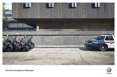 Cannes Lions Press Gold : BIKERS-POLICE VW PARK ASSIST TECHNOLOGY